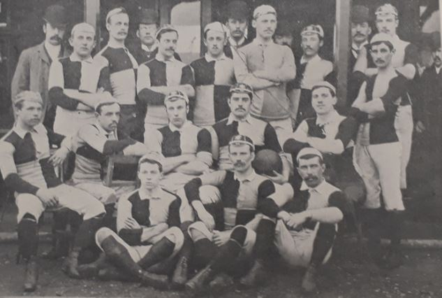 Cardiff 1888-89 team Norman Biggs middle row 2nd from left