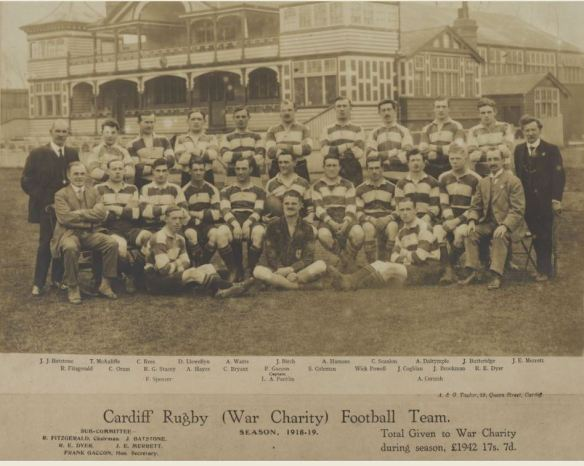 Cardiff Rugby (war charity) Football Team 1919