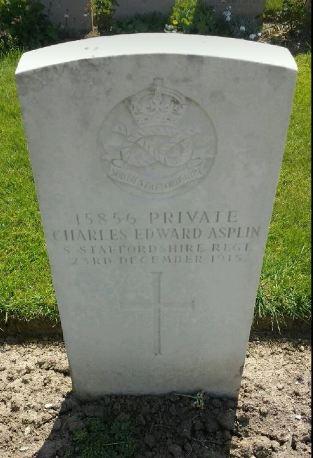 Charles Edward Asplin gravestone