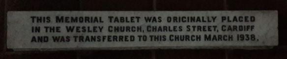 Charles Street Wesleyan Methodist Church foot plaque