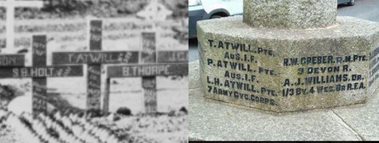 Thomas Atwill grave and Walkhampton memorial