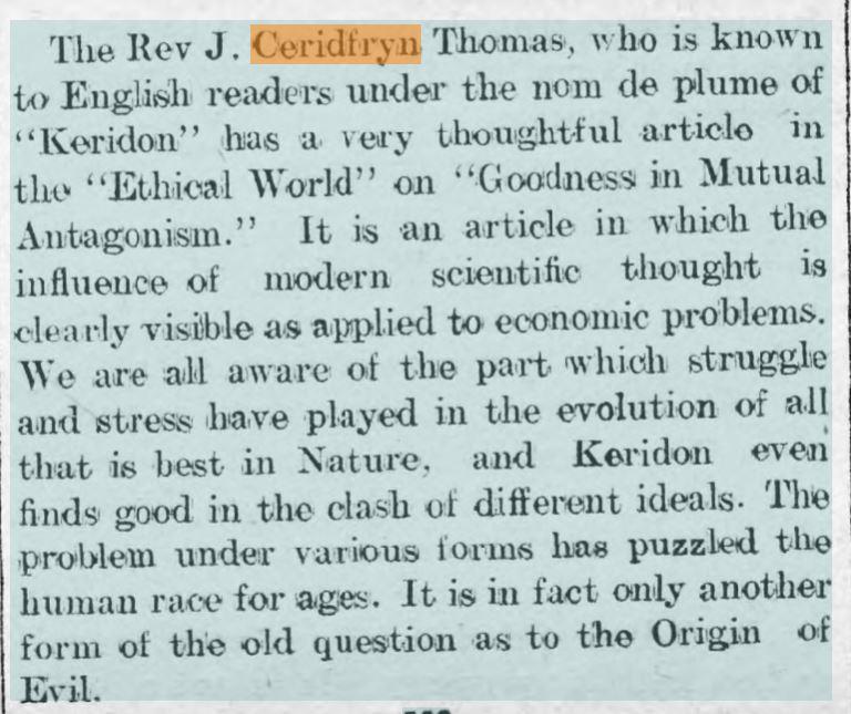 Carmarthen Weekly Reporter 1913
