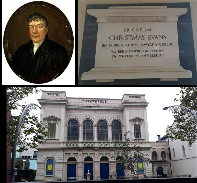 Christmas Evans at Tabernacle chapel, Cardiff