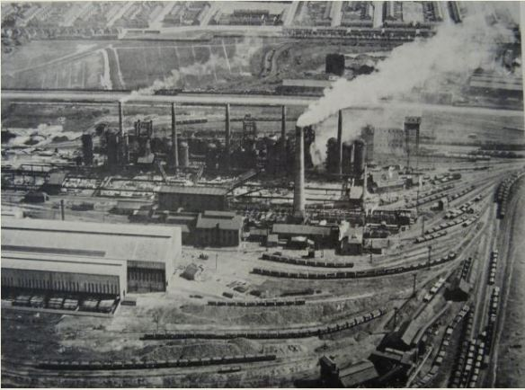 East Moors steel works, looking towards lower Splott, 1927