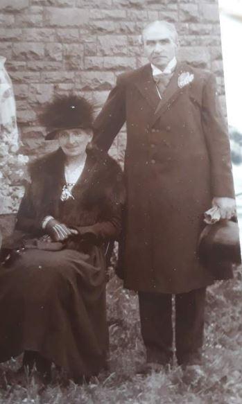 Evan Christmas Thomas and his wife
