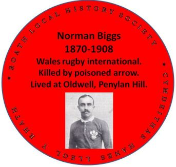 Norman Biggs red plaque