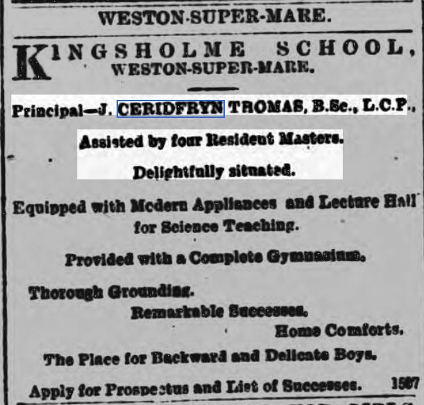 South Wales Daily News Sept 1902