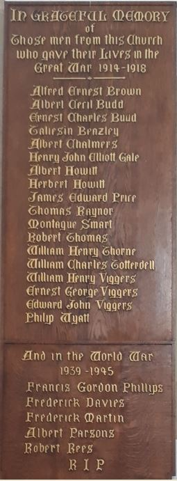 St Agnes Church war memorial