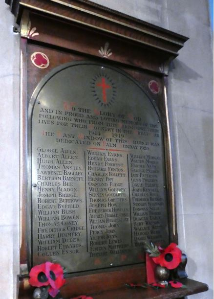 St Andrew's and St Teilo's war memorial - small
