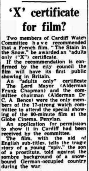 1955 Oct 26 western Mail X certificate