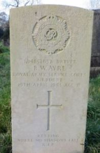 Bernard William Ayre headstone