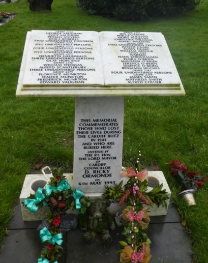 Cardiff Blitz Memorial Cathays Cemetery