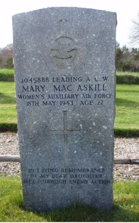 Mary MacAskill grave headstone