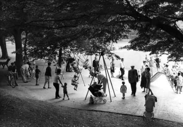 Play area at Roath Park Lake 1966