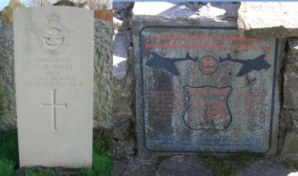 Vivian Howard Ayres headstone and memorial