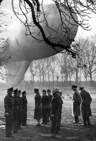 WAAF Balloon Squadron inspection