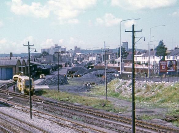 Coal sidings from Pengam Bridge 1974