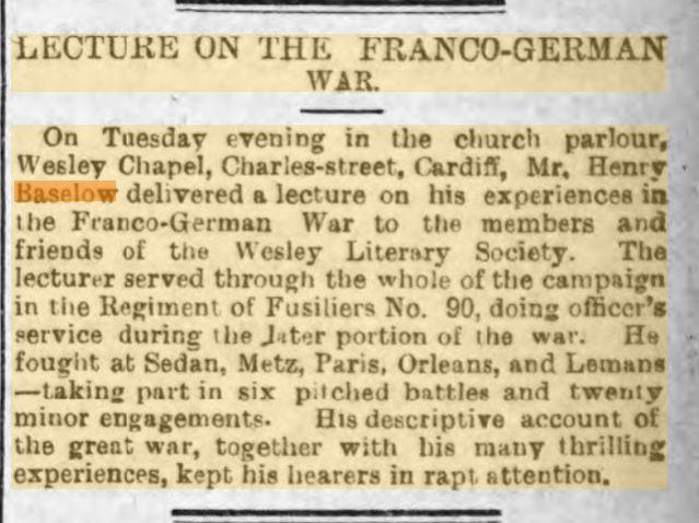 Henry Baselow 23rd Feb 1893