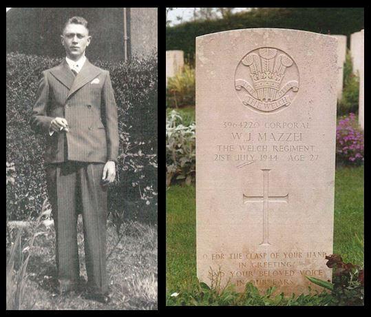 WIlliam John Mazzei portait and headstone