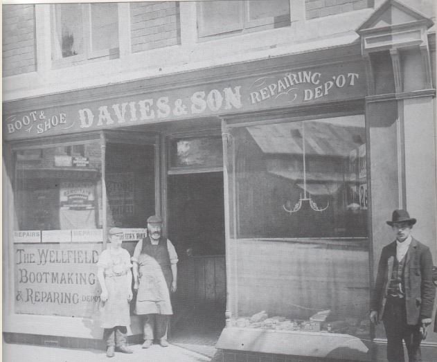 Davies and Son Bootmakers Wellfield Road 1903