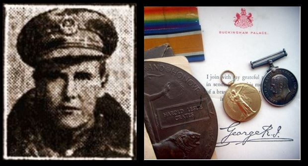 Harold Leslie Crates picture and medal