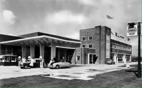 James Howells garage in the late 1950s