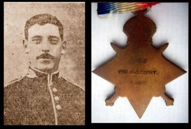 John James Court picture and medal