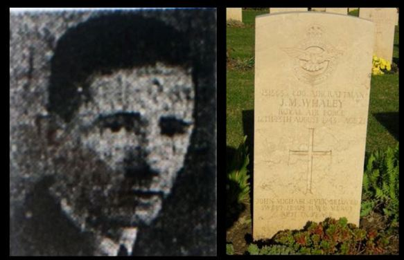 John Michael Whaley picture and headstone