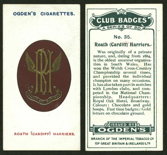 Roath Harriers Cigarette Card - Ogdens