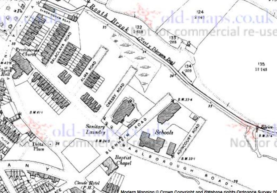Roath Laundry map 1901