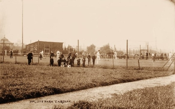 Tennis Courts at Splott Park pictured in 1907