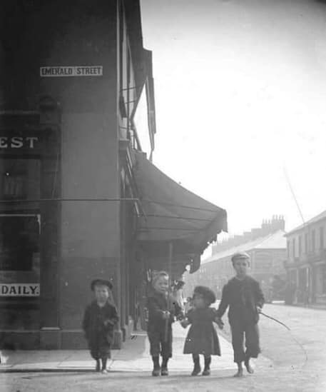 Corner of Emerald st and Clifton st 1890