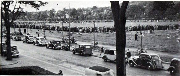 Roath Rec 1953 Baseball Penylan v Grange Albion, 6000 spectators reported to have been there