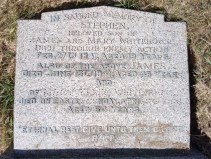 Stephen Whitehouse headstone