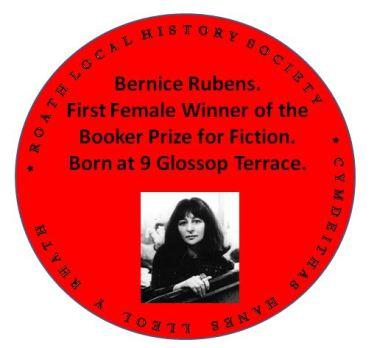 Bernice Rubens red plaque