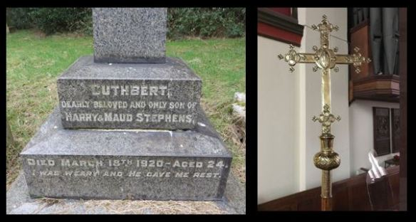 Cuthbert Stephens grave and dedicated processional cross