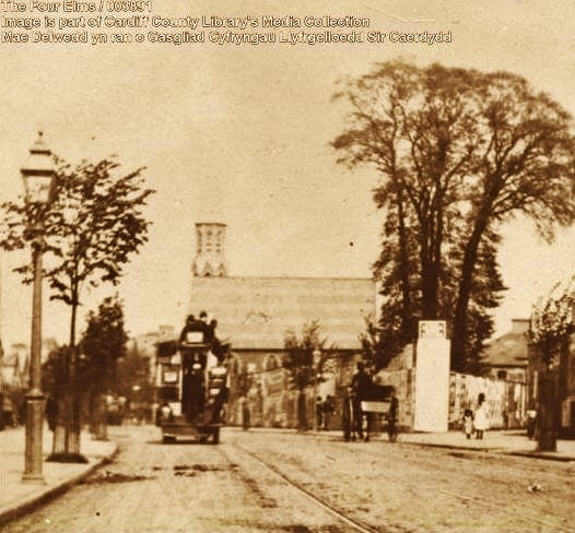 Newport Road near the Four Elms and Broadway in 1890.