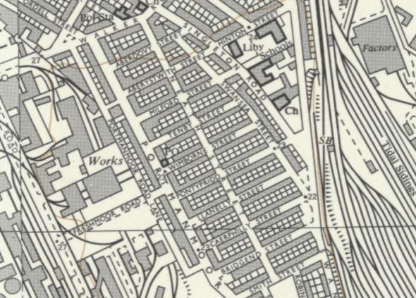 Wimborne Street map