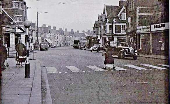 Albany Road near the Wellfield Road junction in the 1960s Photo - Chris Warren