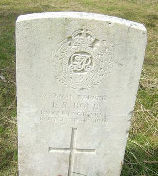 Eli Bond, Cathays Cemetery, headstone