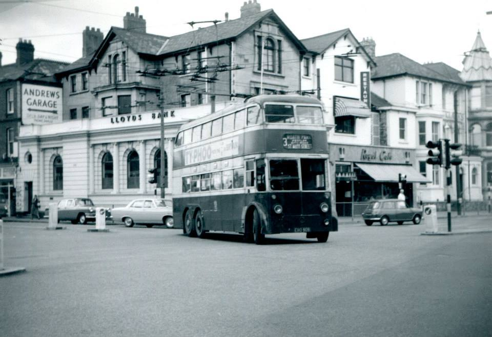 Newport Road and City Road, clearly showing Lloyds Bank and the lovely Royal Cafe.