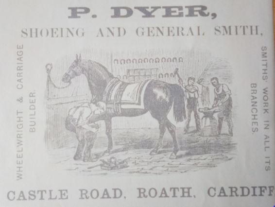 P Dyer, Castle Road, Roath, Cardiff
