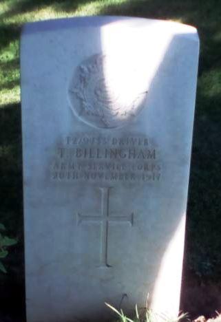 Thomas Billingham headstone