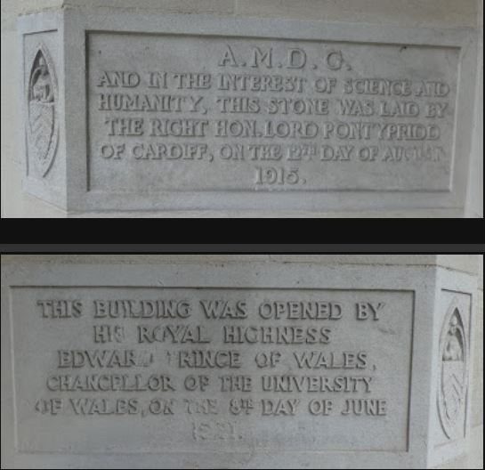 Cardiff University Queen's Building foundation stones