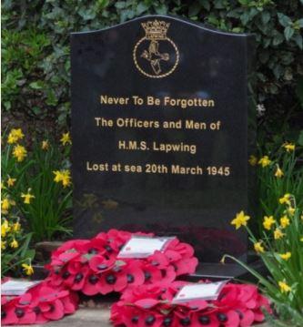 HMS Lapwing Memorial at Saffron Waldron