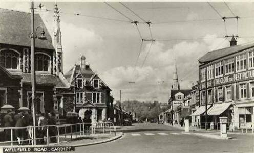 Wellfield Road, Roath, Cardiff in 1962