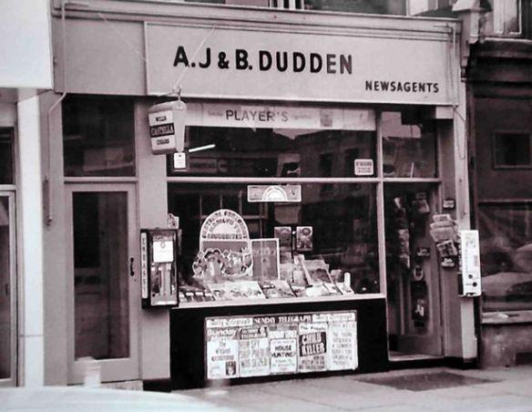 Dudden Newsagents Albany Road 1965