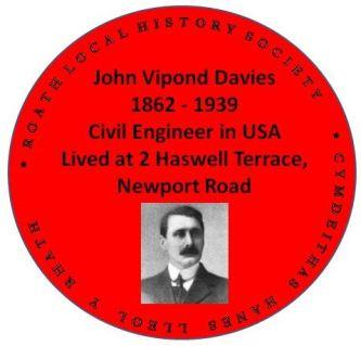 John Vipond Davies red plaque