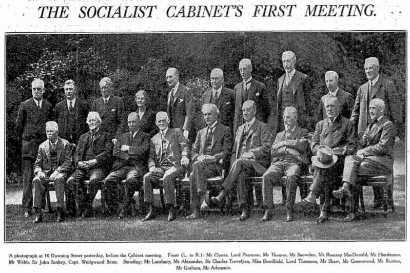 Ramsey MacDonald Socialist Cabinet 1929