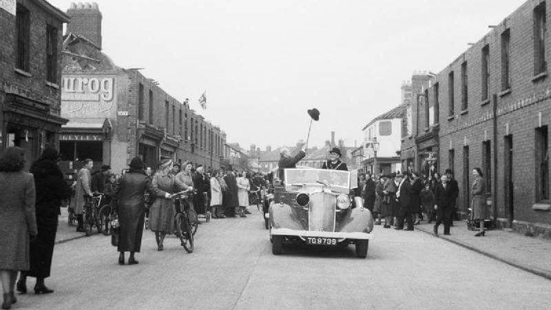 Sir Winston Churchill in Croft Street Roath in 1941